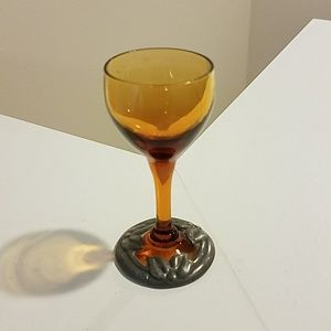 Small amber glass